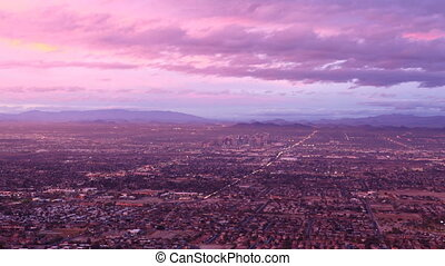 Timelapse of Metro Phoenix - A Day to night timelapse of...