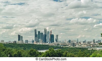 Timelapse of Moscow International Business Centre, also known as Moscow City.