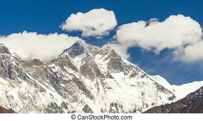 Timelapse of Mount Everest peak, Himalayas