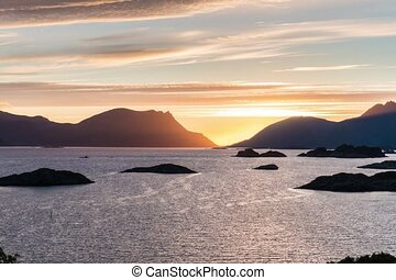 Timelapse of mountain landscapes on the Norwegian Sea -...