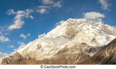 timelapse of Nuptse, Everest region, Himalaya, Nepal