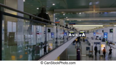 Timelapse of people traffic at the airport - Clip with...