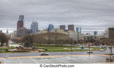 Philadelphia from the Museum - Timelapse of Philadelphia...
