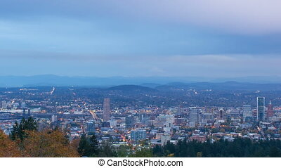 Timelapse of Portland OR and Clouds - Timelapse Movie of...
