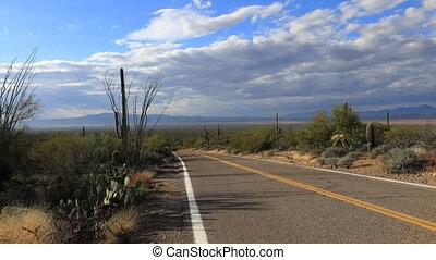 Timelapse of roadside in Tucson Mountain Park - A Timelapse...