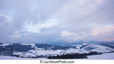 timelapse of snow mountains