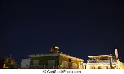 Timelapse of starry sky - Timelapse of night sky over the ...