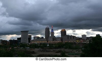 Timelapse of storm clouds over Cleveland
