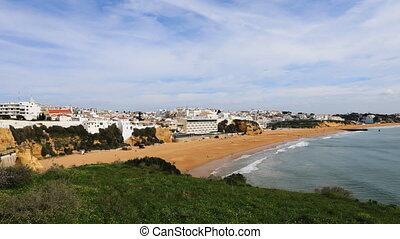 Timelapse of the beach at Albufeira, Portugal