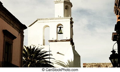 timelapse of the church in san miguel de allende, mexico