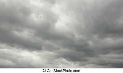 timelapse of the cloudy sky