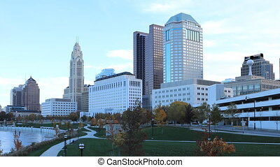 Timelapse of the Columbus, Ohio city center - A Timelapse of...