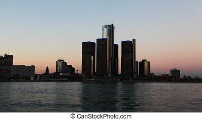 Timelapse of the Detroit skyline