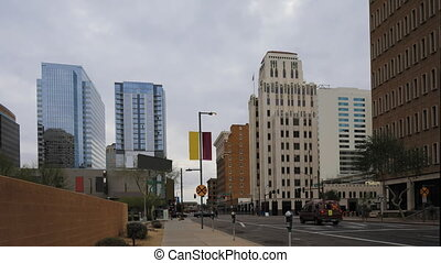 Timelapse of the downtown in Phoenix, Arizona