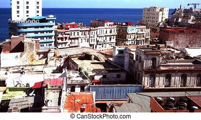 timelapse of the havana skyline and coast, cuba