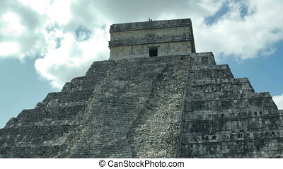 timelapse of the mayan ruins at chichen itza, yucatan, mexico. the mayans believe that transformative events will occur on 21 december 2012