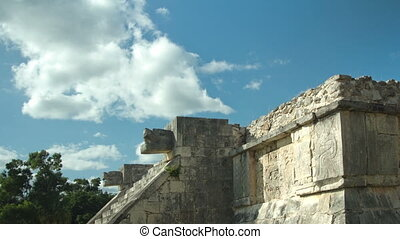 timelapse of the mayan ruins at  chichen itza, mexico. the mayans believe that transformative events will occur on 21 december 2012