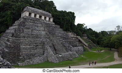 timelapse of the mayan ruins at palenque, chiapas, mexico. the mayans believe that transformative events will occur on 21 december 2012