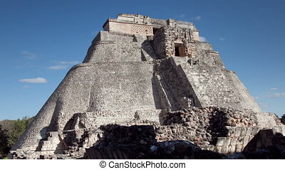 timelapse of the mayan ruins at uxmal, mexico. the mayans believe that transformative events will occur on 21 december 2012.