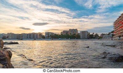 Timelapse of the Spanish Mediterranean coastline,...