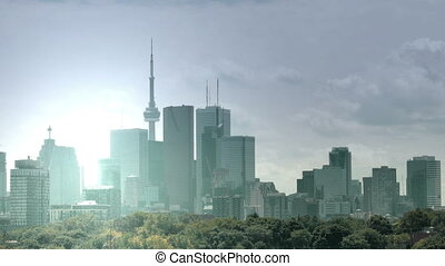 Timelapse of the Toronto skyline