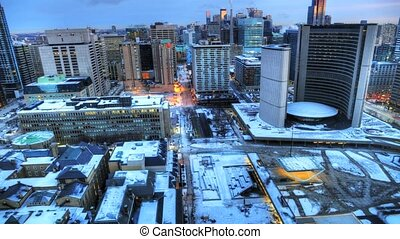 Timelapse of Toronto City Hall