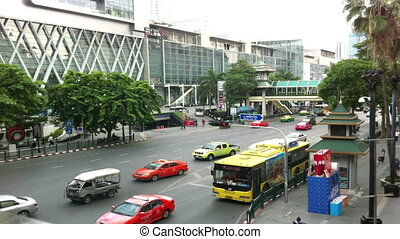 Timelapse of Traffic in bangkok - Bangkok, Thailand - July...