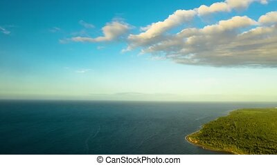 Timelapse of Tropical landscape with sea and clouds....