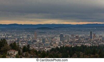 Timelapse over Portland Oregon 4k - Ultra High Definition 4k...