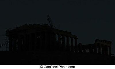 Timelapse Parthenon Acropolis