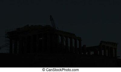 Timelapse Parthenon Acropolis - Timelapse Sunrise Parthenon...