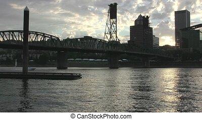 Timelapse Portland Oregon at Sunset