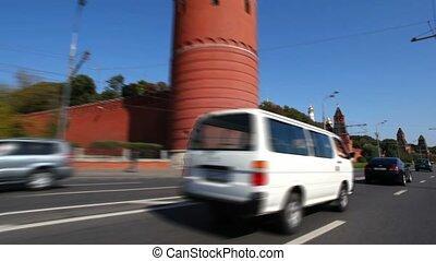 timelapse riding past the Kremlin