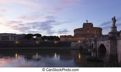 Timelapse Rome Castel S.Angelo - Time lapse close up Castel...