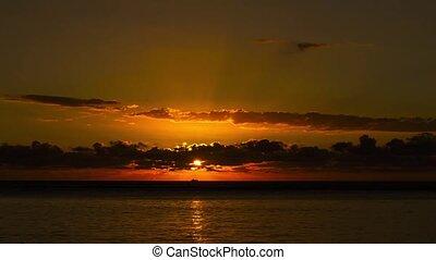 Timelapse, sandstrand, Sonnenuntergang,  mauritius