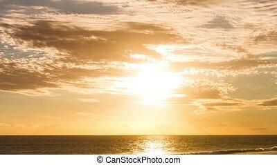 Timelapse, sandstrand, Sonnenuntergang,  réunion
