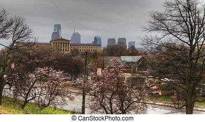 Timelapse scenic view, Philadelphia