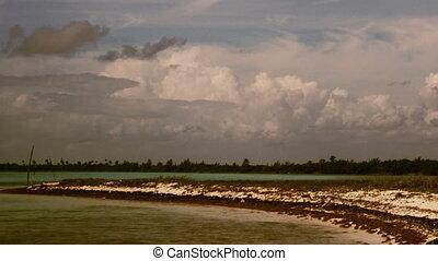 timelapse shot of the beautiful mahahual beach on the...