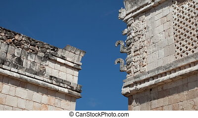 timelapse shot of the mayan ruins at uxmal, mexico. the mayans believe that transformative events will occur on 21 december 2012