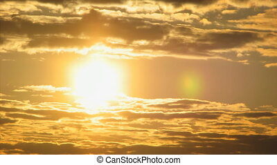 Timelapse, Sonnenuntergang, wolkenhimmel