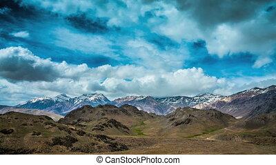 Timelapse. Spiti Valley, Himachal Pradesh, India