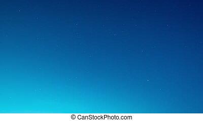 Timelapse starry sky over the city. - Timelapse starry sky...