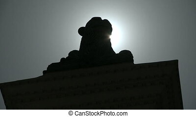 Timelapse Statue in the sun - Time lapse of the sun coming...
