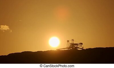 Timelapse, Sun, bucket wheel