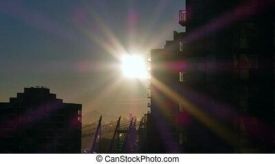 Timelapse sunrise Vancouver
