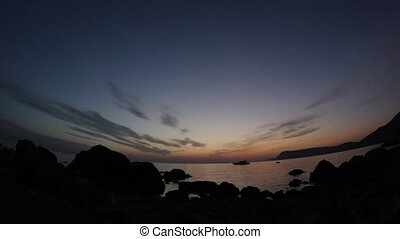 Timelapse sunset on the Black Sea.