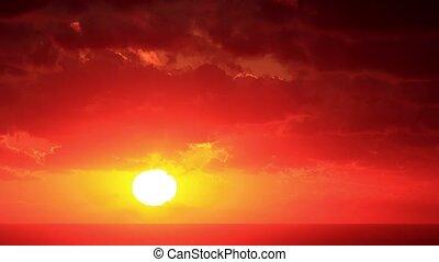 Timelapse sunset on the sea