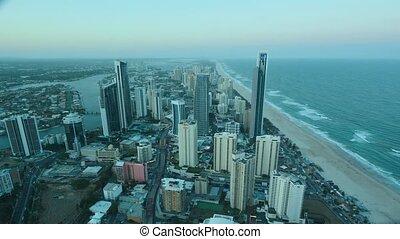 Timelapse Surfers Paradise CBD Gold Coast Queensland...