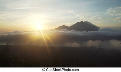 Timelapse surise in the mountains, volcanoes - Mountains,...