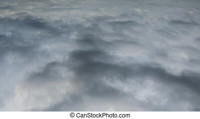 Timelapse thunder sky with white cumulus clouds